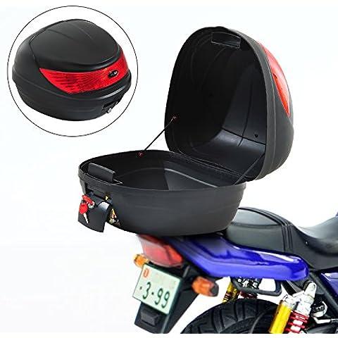 Baul de Moto Maleta 35L + Llaves y Accesorios Equipaje Motos Caja Topbox Topcase