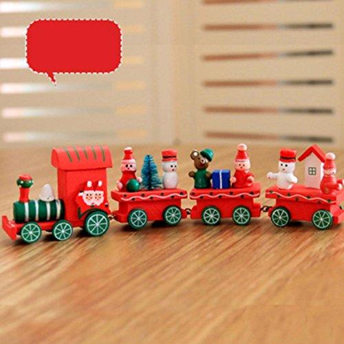 Prevently nuovo arrivo 3colori simpatico pupazzo di natale decorazioni di natale woods piccolo treno bambini scuola materna festive gift piccoli ornamenti per bambini, b