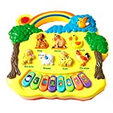 #7: Animal Farm Piano with With Musical Piano Toy - Multicolor