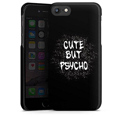 Apple iPhone SE Silikon Hülle Case Schutzhülle Cute but Psycho Statement Spruch Hard Case schwarz