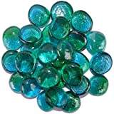 Maalavya 54 Pieces Crystalline and Translucent Shaded Glass Stone For Decorative Aquarium Fish Tank and Substrate Glass Stone or Pebbles.