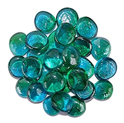 Maalavya 1kg Glass Pebbles for Fish Aquarium Colorful Stones for vase Fillers and Fish Tank Decoration, Substrate