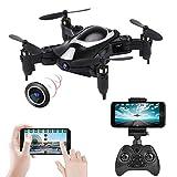 FPV Mini Drone con telecamera 720P, FPV WIFI pieghevole RC Quadcopter Drone, portatile Mini pieghevole Drone Aircraft 2.4G 6Axis, controllo vocale, Fly Drone costante regalo per bambini Principianti