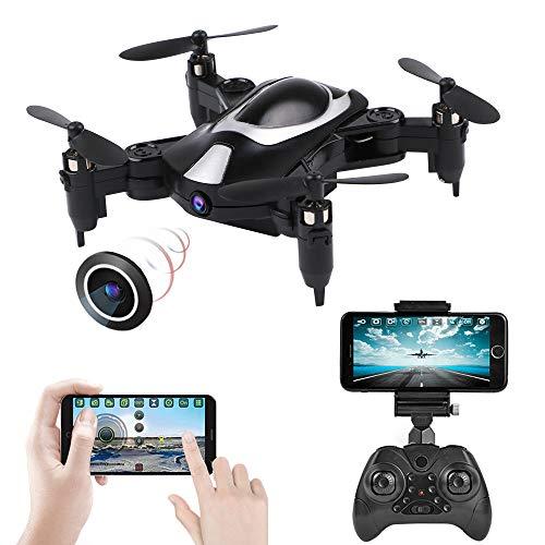 Mini Drone FPV con cámara 720P FPV WIFI Drone plegable RC Quadcopter, Mini avión plegable portátil Drone 2.4G 6Axis, Modo sin cabeza, Control de voz, Fly Steady Drone Regalo para niños principiantes