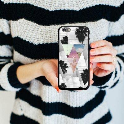 Apple iPhone 5s Housse Étui Protection Coque Triangles Triangles Triangles CasDur noir