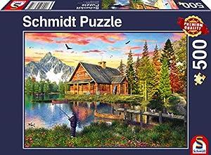 Schmidt Spiele 58371 - Puzzle (500 Piezas), diseño de Pesca en el Lago