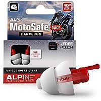 Alpine MotoSafe Race Tapones para los oídos - Tapones para carreras - Evita daños auditivos durante la práctica del motociclismo - El tráfico sigue siendo audible - Tapones reutilizables