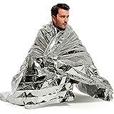Add-gear Generic Portable Waterproof Emergency Space Rescue Thermal Foil Mylar Blankets (Silver, 1.4 x 2.1 m)