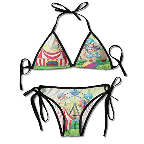 ini,Balancing Above an Inflatable Sexy Bikini 2 Pieces ()
