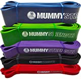 MummyStrength Pull Up Assist Band | Stretch Resistance Pull-up & Mobility Bands | Perfect For Pull-ups, Chin ups & Powerlifting. Works with Any Pullup Bar or Station. SINGLE BAND