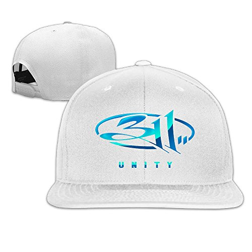 thna-311-band-logo-adjustable-fashion-baseball-hat-white