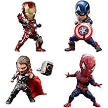 DR Juguete Avengers 4 Pack Movable Doll Hand Modelo / Iron Man / Spiderman - Luminoso
