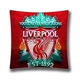 Pop Home Decor Baumwolle & Polyester Überwurf Kissen Kissen Bett und Couch Liverpool FC Zimmer Kissenbezüge 45,7x 45,7cm Zoll (45x 45cm)