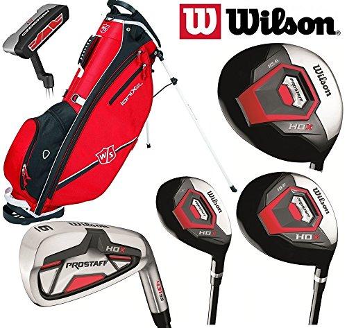 Wilson Prostaff HDX complet Club de golf Graphite 2018et ensemble de rouge Ionix Sac de golf avec...