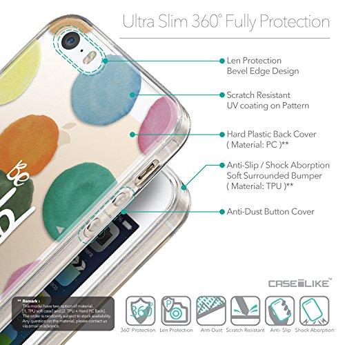 CASEiLIKE Zitat 2402 Ultra Slim Back Hart Plastik Stoßstange Hülle Cover for Apple iPhone SE +Folie Displayschutzfolie +Eingabestift Touchstift (Zufällige Farbe) 2420