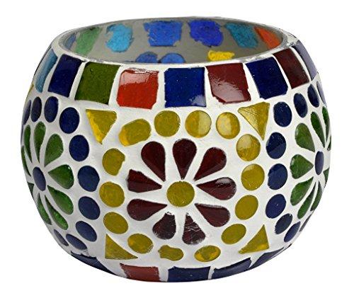 Indiano vetro tavolo porta candeles antico 8 cm