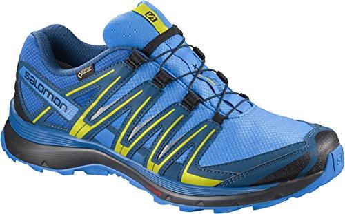 Salomon Herren XA Lite GTX, Trailrunning-Schuhe, Wasserdicht, Blau (Indigo Bunting/Snorkel Blue/Sulphur), Größe: 45 1/3