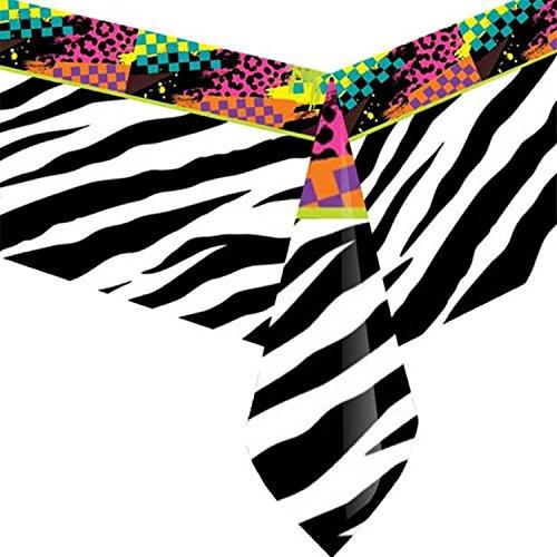 Fancy Me Erwachsene Kostümfest 80er 80er Jahre Achtziger Neon Funky Gemusterte Jahrzehnte Party Papier Geschirr Dekorationen Zubehör (Tischtuch) (Achtziger Jahre Kostüme Für Erwachsene)