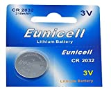 Eunicell 100 x CR2032 3V Lithium Knopfzelle 210 mAh (20 Blistercards a 5 Batterien) Markenware FBA