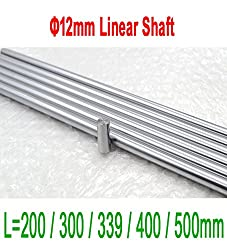 Generic Length 339mm : 3D Printer OD 12mm Liner Rail Linear Shaft Smooth Rod 200 to 500mm for 3D Printer CNC Parts