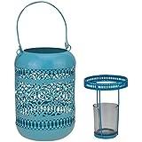 AVMART Light Blue Home Decor Floral Metal Candle Tea Light Iron Tealight Holder