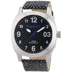 Superdry Men's Watch XL Analogue Quartz Textile SYG126SM