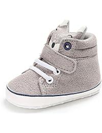 Niña bebés zorro Corte alto Zapatillas Antideslizante Suela blanda Zapatos