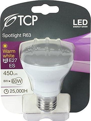 6Pack TCP LED R638W = 60W Reflektor LED Strahler Leuchtmittel ES E27Edison Schraubverschluss 3000K Warm Weiß 240V R6360W incadescent Ersatz