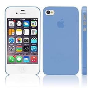iGard iPhone 4 4S Ultra Slim Case 0,3mm Cover Premium Schutzhülle Blau Transparent