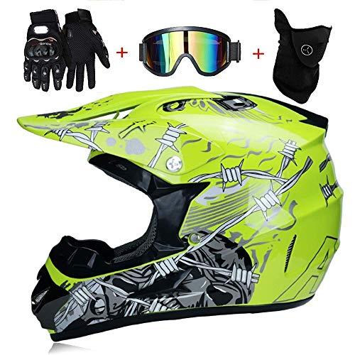 Kostüm Einfache Personen Vier - LJ-GJ Outdoor Radfahrer Kostüm- Motorradhelm-Motocross Quad Crash DH Helm Vollgesichts Off Road