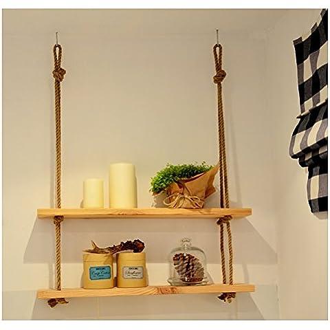 Doble escalera estante estante de exhibición soporte estantería pantalla pisos de cuerda para