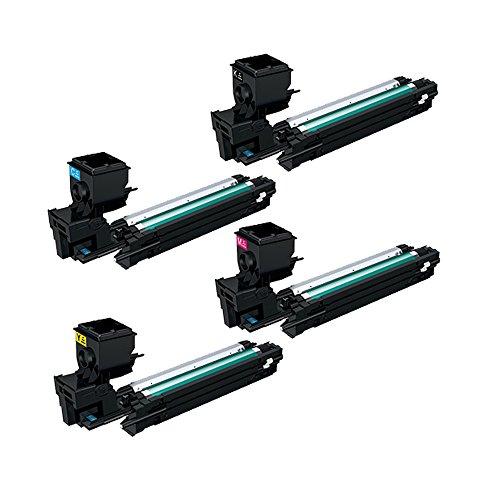 Set of 4 ECS Compatible Toner Cartridge Replace 3730 DN For Konica Minolta Magicolor Printer 3730