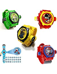 Pappi Boss Kids Special Favourite Toys - Pack Of 5 Benton (BEN 10), Angry Bird, Minions, SpiderMan & Doremon Birthday...