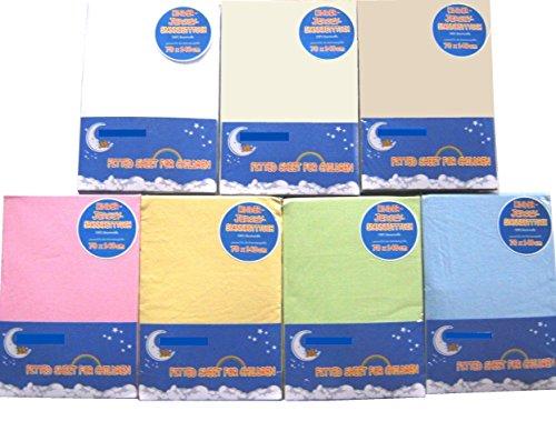 HAHN Jersey-Spannbettlaken für Kinderbett, 70x140 cm, weiss