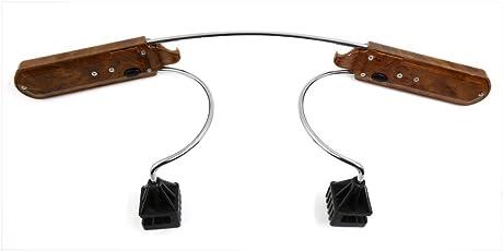 Tradico® Universal Stainless Steel Wood Grain Headrest Restraint Rods Coat Hanger Hook for Car Vehicle