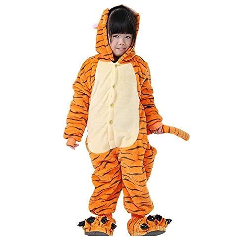 lifenewbaby Kids Cartoon Tier Pyjama Flanell Anime Cosplay Kostüm Geburtstag/Karneval/Halloween/Weihnachten/Neues