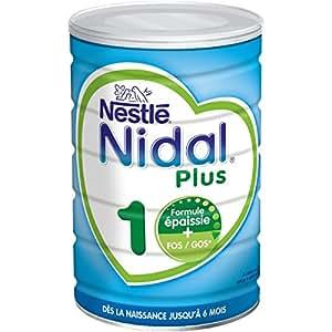 Nestlé Nidal 1 Lait en Poudre Bébé 1er Âge - de la Naissance à 6 mois - 800g - Lot de 3