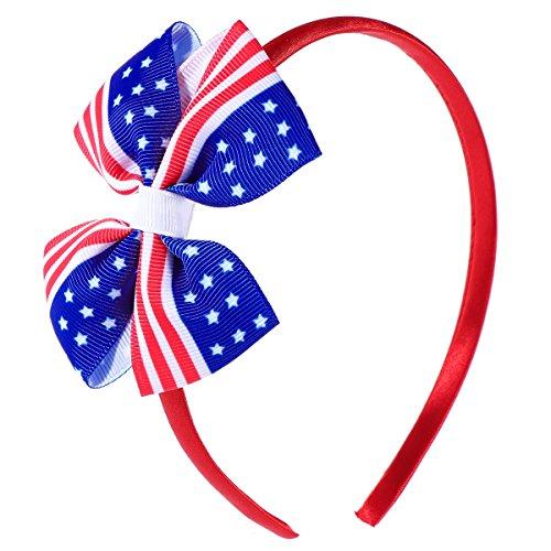 Amerikas Nationalen Schätzen (BESTOYARD Amerika Flagge Haar Clip Chiledren Mädchen Bowknot Haarnadeln für Unabhängigkeitstag 4. Juli Nationalfeiertag Birthday Party Favors (rot))