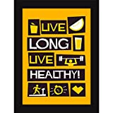 Posters For Gym Motivation | Framed Posters For Living Room And Dining Area - Live Long & Healthy