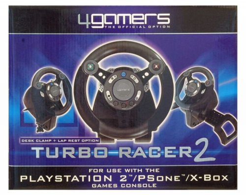 Playstation 2 - Lenkrad Turbo Racer 2 (PS1+2+XB)