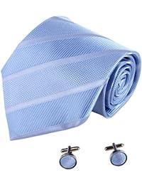 YAB1A08Varios de colores rayas accesorio de regalo para hombre corbata de seda Set 2PT por Y & G