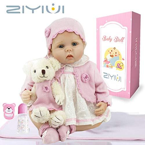 ZIYIUI Reborn Muñecas de bebé de 22 Pulgadas 55cm Vinilo de Silicona...