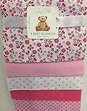 Rene Rofe Newborn 5 Pack Baby Blankets