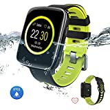 Yarrashop Smart Uhr IP68 Wasserdicht Fitness Tracker mit Pulsmesser Schrittzähler Sport Uhr für Android und iOS