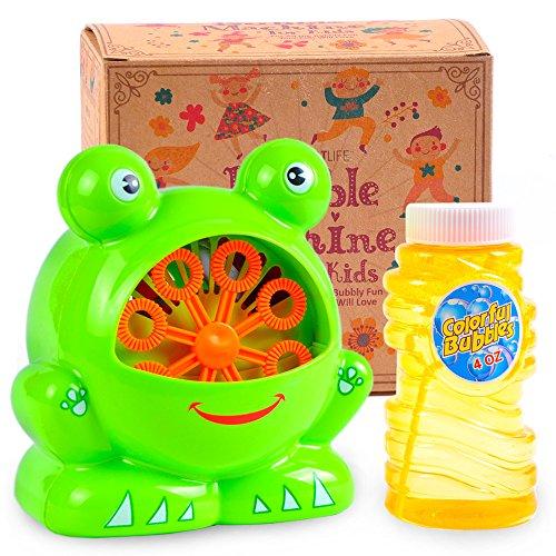 Seifenblasenmaschine für Kinder - Einfach zu bedienen und langlebig Blasenmaschinengebläse mit hoher Leistung für Tonnen von Indoor-und Outdoor-Seifenblasenspaß - Mit Kostenloser Seifenblasen-Lösung