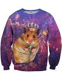 Mr. Gugu & Miss Go ® ⋅ King Hamster Suéter ⋅ 3D ⋅ Unisex ⋅ Fullprint ⋅ Impreso ⋅ Multicolor ⋅ Primavera ⋅ Verano ⋅ 2017 ⋅