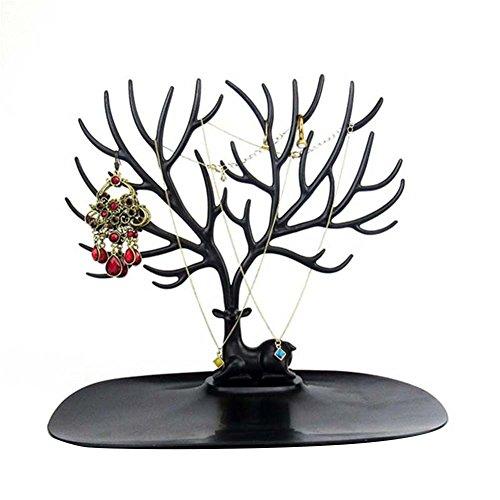 Blue Vessel Schmuck Deer Baum Stand Display Organizer Halskette Ring Ohrring Halter Schuh Rack Schmuck Halter Baum
