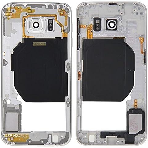 Ricambio per i cellulari di ricambio, iPartsBuy obiettivo posteriore del piatto custodia per Pannello con tasti laterali e l'altoparlante Ringer Buzzer per Samsung Galaxy S6 / G920 ( Colore : Bianco )
