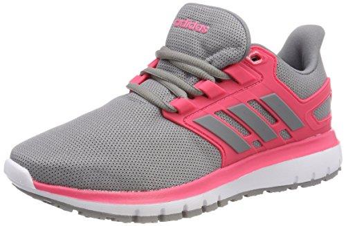 adidas Damen Energy Cloud 2 Laufschuhe, Grau (Grey Three F17/Grey Three F17/Real Pink S18), 39 1/3 EU