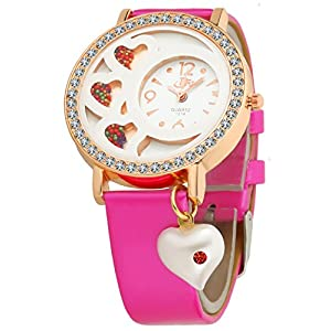 Women's & Girl's Watch (Pink Colored Strap) Best Online Shopping Store